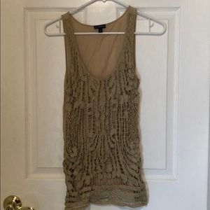 Glittery detailed Express tank, size small